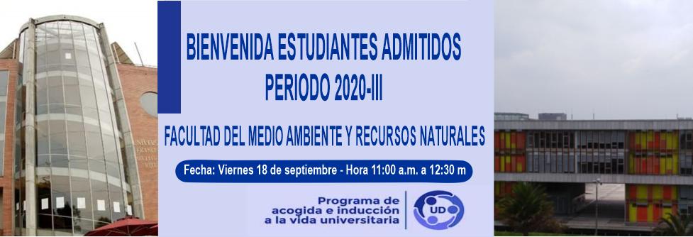 Bienvenida Estudiantes Admitidos Periodo 2020-III - Clic para ingresar